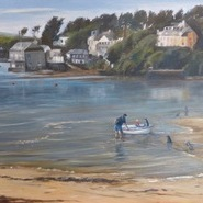 Boating, Porthilly Beach  SOLD