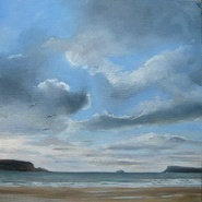 Clouds over the Camel Estuary. SOLD
