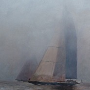 J-Class Yachts, Foggy Day, Falmouth 2012  SOLD