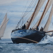 Mariette of 1915, sailing off Falmouth  SOLD