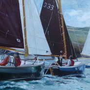 Shrimpers Racing, Camel Estuary  SOLD